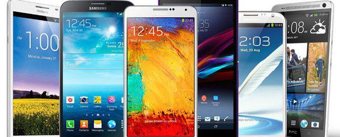 Smartphones verschiedener Hersteller